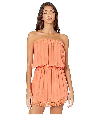 SOLUNA SWIM Starbright Strapless Mini Dress (Creamsicle) Women