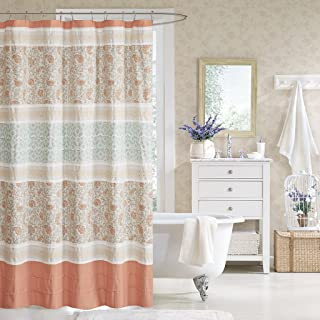 Madison Park Dawn Shower Curtain, 72x72, Coral