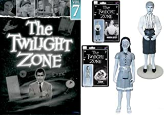 Robot Mannequin The Twilight Zone: Rod Serling's landmark series DVD TV 4 episodes Hitch-Hiker / Shadow Play / Perchance Dream / King Nine Will Not Return + Alicia Marsha 2 Black & White Figures