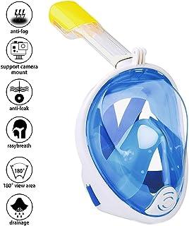 comprar comparacion Wsobue Máscara de Buceo, Gafas Snorkel 180° Panorámica Vista Anti-Niebla Apoyo Camara Deportiva, Anti-Fugas Máscara de Sno...