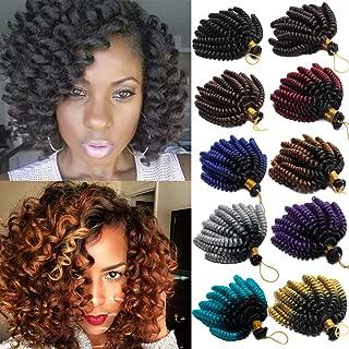 6 Inch Jamaican Bounce Hair Short Curly Crochet Braids Hair Extension Jumpy Wand Curly Crochet Hair Jamaican Bounce Synthetic Braids Twist Hair For Black Women (6