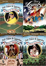 Little American Disney Tall Tales Legends / Annie Oakley / Casey At The Bat / Johnny Appleseed / Paul Bunyan / John Henry - history and pioneers DVD 4-Pack