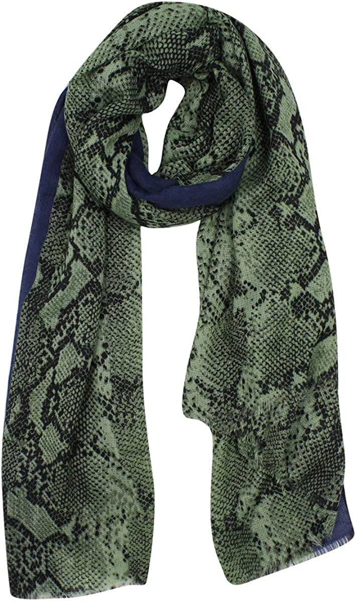 Women Fashion Cotton Scarf Long Large Oversized Snakeskin Prints Wrap Shawl Scarves Headscarf
