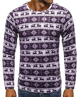 LIVERGY® Herren Langarmshirt Shirt Pullover Pulli Weihnachtspullover Warm Winter