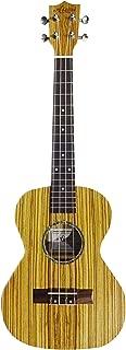 【Aiersi Guitar】 ウクレレ テナーサイズ オールゼブラウッドボディ シンプルデザイン ソフトケース・クリーニングクロス付 AG-SU046B-ZB