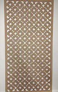 LaserKris ZK2 - Rejilla decorativa para pared, panel de tablero DM perforado (4 x 2)