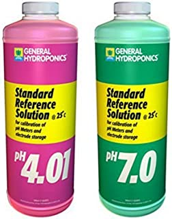 General Hydroponics Ph 4.01 & Ph 7.0 Calibration Solution Kit, Quart Size