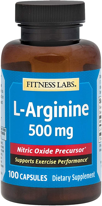Fitness Labs L-Arginine 500 100 favorite Max 73% OFF Mg Capsules