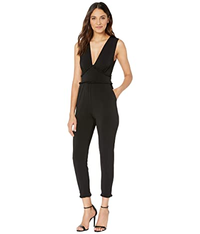 BCBGeneration Ruffle Detail Knit Jumpsuit YDM9226350 (Black) Women