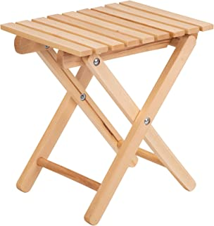 Silla plegable de madera, silla de madera, silla de madera pequeña, 31,5 x 25 x 35 cm