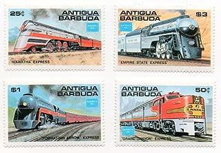 Antigua & Barbuda Postage Stamp Set 1986 Train Railway Issue Ameripex 86 Scott #944-947