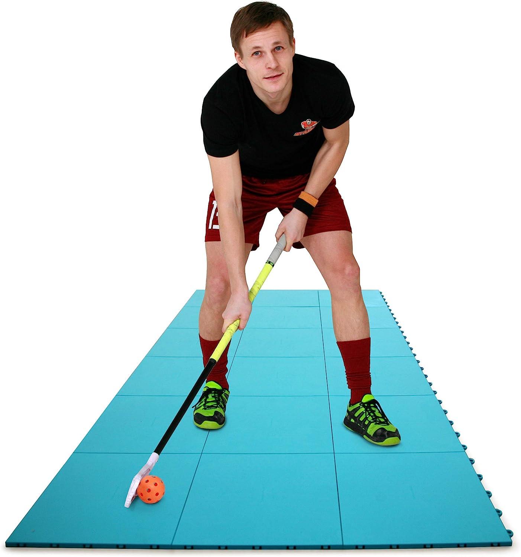 Hockey Revolution High Durability Dryland Flooring Tiles - Slick Interlocking Training Surface for Stickhandling, Shooting, Passing - Suitable for Indoor & Outdoor for Hockey, Floorball, Field Hockey : Sports & Outdoors