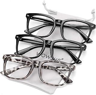 Blue Light Filter Glasses Unisex Nerd Non-prescription Clear Lens Fake Glasses