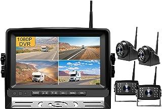 "$509 » Fursom 9"" 1080P DVR Wireless Backup Camera, Quad Split Monitor, IP69 Waterproof Side Rear View Vehicle Reverse Camera Syst..."