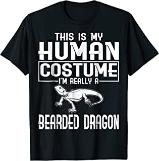 This Is My Human Costume I'm Really A Bearded Dragon T shirt
