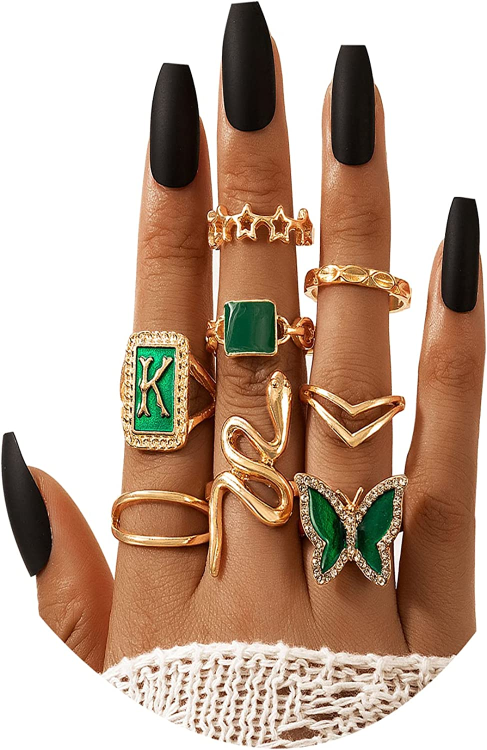 Popular brand in the world Gold Knuckle Rings Set for Women Teen Girls low-pricing Peal Stacking Chain