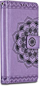 Huawei Mate Case  Bravoday Huawei Mate Wallet Leather Case  Art  Soft Tactile Elegant Case Cover with Embedded Magnetic Closure for Huawei Mate Purple