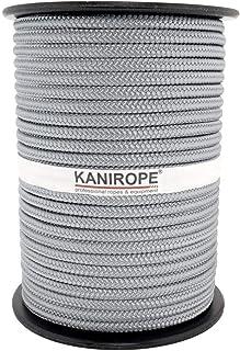 Kanirope PP Seil Polypropylenseil MULTIBRAID 6mm 100m Farbe Silbergrau 0130 16x geflochten