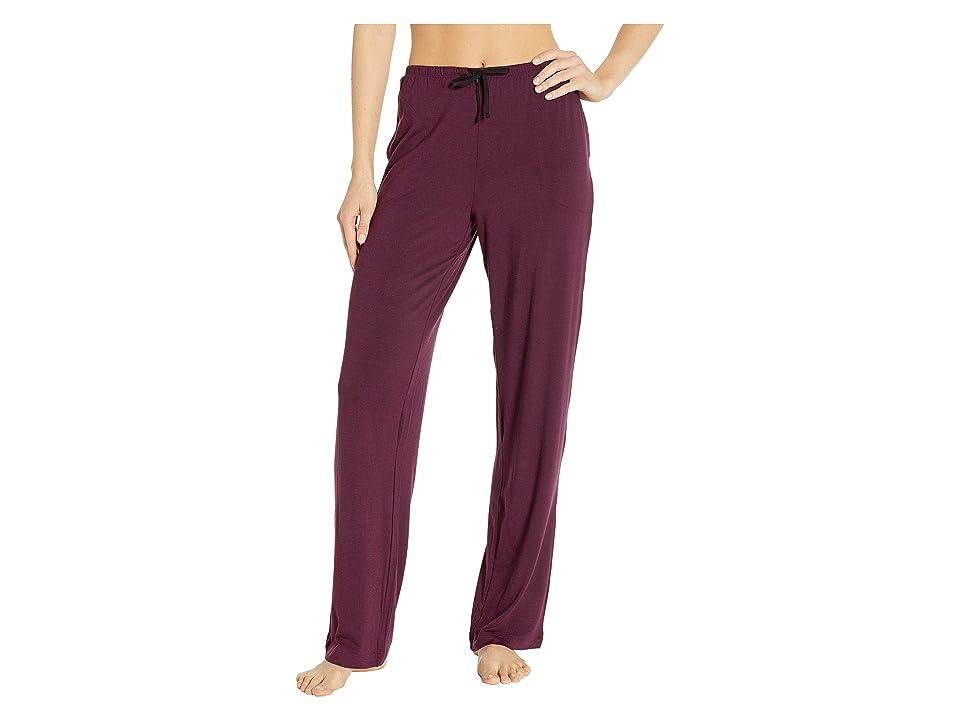 Donna Karan Modal Spandex Jersey Long Pants (Burgundy Heather) Women's Pajama