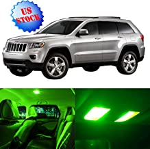 SCITOO LED Interior Lights 10pcs Green Package Kit Accessories Replacement for 1998-2004 Jeep Grand Cherokee