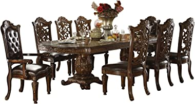 acme Vendome Casual Dining Room Set with Dining Table, Side Chair and Arm Chair