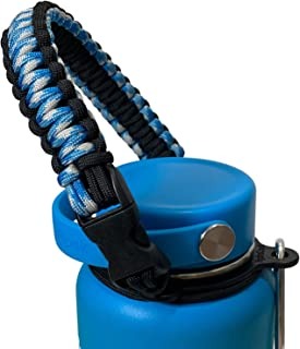 Handle for Hydro Flask Water Bottle - America's #1 Paracord Carrier with Safety Ring Holder - Fits Wide Mouth Bottles 12 oz to 64 oz - Top Ratings