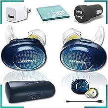 Bose SoundSport Free Wireless in-Ear Headphones (Navy/Citron) Essentials Bundle