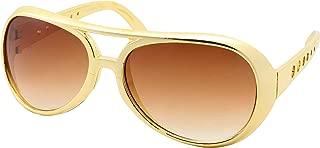 50's 60's Rock Star Sunglasses - Elvis Style Aviator Glasses - Mens Costume