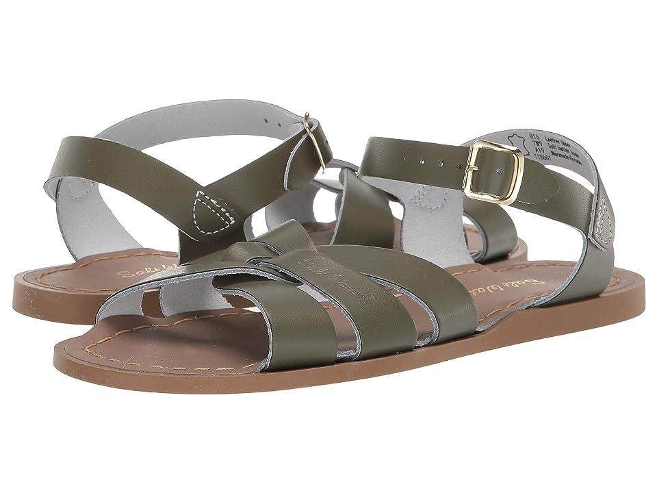 Salt Water Sandal by Hoy Shoes The Original Sandal (Big Kid/Adult) (Olive) Girls Shoes