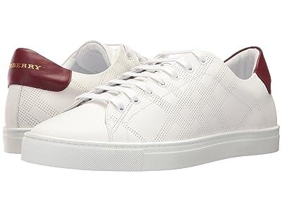 Burberry Albert Perforated Sneaker (Optic White) Men