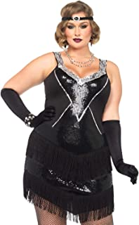 Women's Plus-Size 2 Piece Glamour Flapper Costume