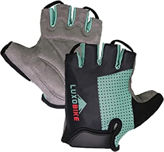 LuxoBike Cycling Gloves Bicycle Gloves Bicycling Gloves Mountain Bike Gloves - Anti Slip Shock Absorbing Padded Breathable...