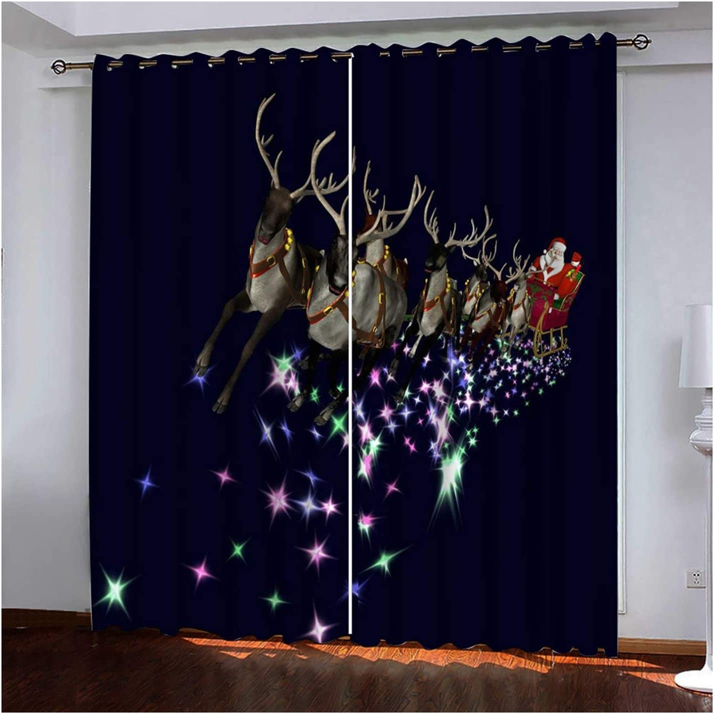 Daesar Christmas Excellence Curtains for Windows Blackout Choice Curtain Pa Panel