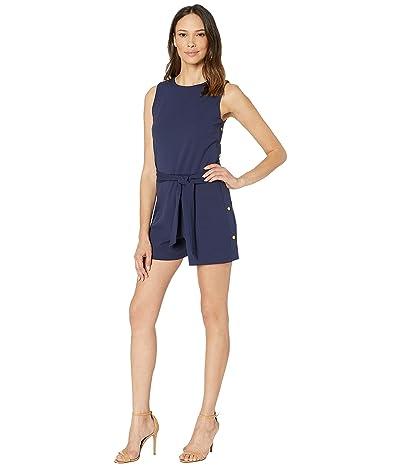 MICHAEL Michael Kors Snap Short Jumpsuit (True Navy) Women
