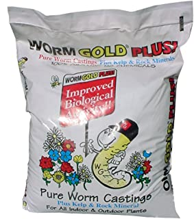 Worm Gold Plus 10010 Pure Worm Castings, 20-Quart