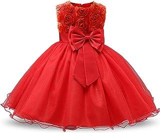 21159cac0a4f5 NNJXD Robe Filles Cérémonie Bébés Filles Robes de Bal de Mariage  d anniversaire de fête