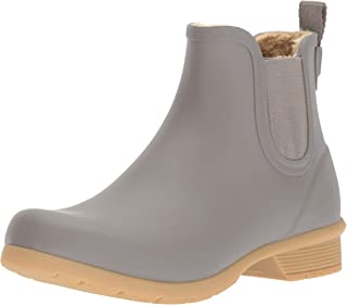 Chooka womens Bainbridge Fleece Lined Bootie Chelsea Boot, Stone, 7 US