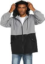 poriff Men's Lightweight Raincoat Waterproof Active Outdoor Hooded Rain Jacket Trench Coats
