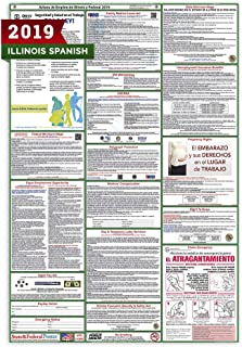 2019 (SPANISH) Illinois State and Federal Labor Law Poster - Laminated 27