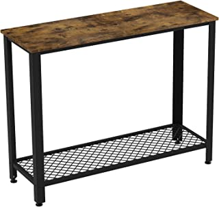 IRONCK Vintage Console Table for Entryway, Entry Table with Shelf, Sofa Side Table for Entryway Living Room, Easy Assembly Industrial Style Wood and Metal Frame