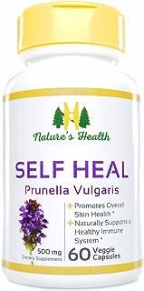 Nature's Health Self Heal (Prunella Vulgaris), Promotes Healthy Skin & Immune System Support, 100% Satisfaction Guarantee, 500 Mg, 60 Veggie Capsules