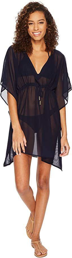 Echo Design Solid Silky Butterfly Swim Cover-Up