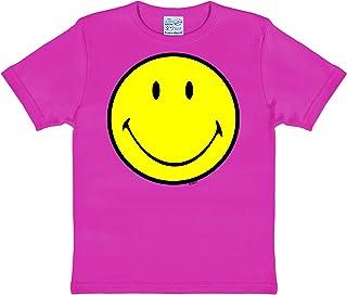 d5fa82a1c518e Logoshirt Original Smiley Face - Heureux - Émoticône Smiley T-Shirt Enfant  Fille - Rose