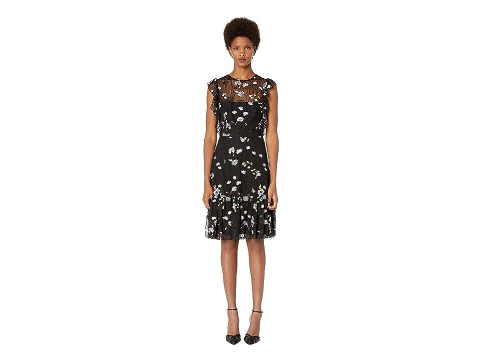 ML Monique Lhuillier - ML Monique Lhuillier Floral Lace Dress