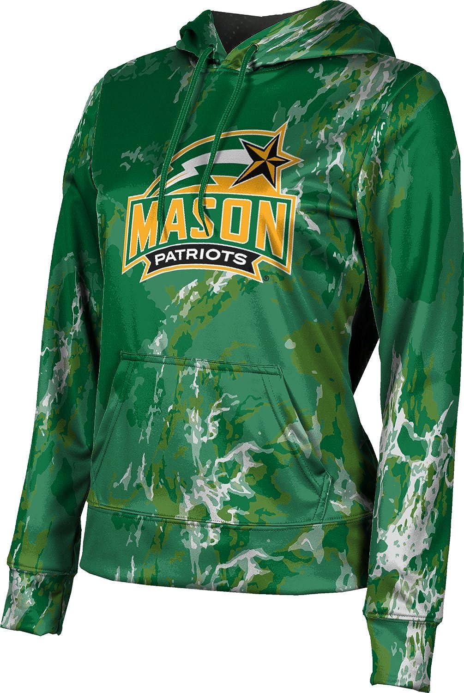 ProSphere George Mason University Girls' Pullover Hoodie, School Spirit Sweatshirt (Marble)
