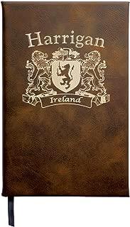 Harrigan Irish Coat of Arms Leather Journal