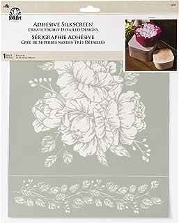 "FolkArt 34974 Adhesive Silkscreen, Vintage Floral, 8"" x 9"""
