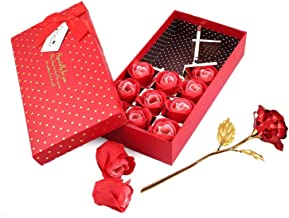 Love Box for Valentine Love Gifts Artificial Red Rose with 12 Pcs Roses - Love Gift for Girlfriend-Wife-Fiancee-Girls
