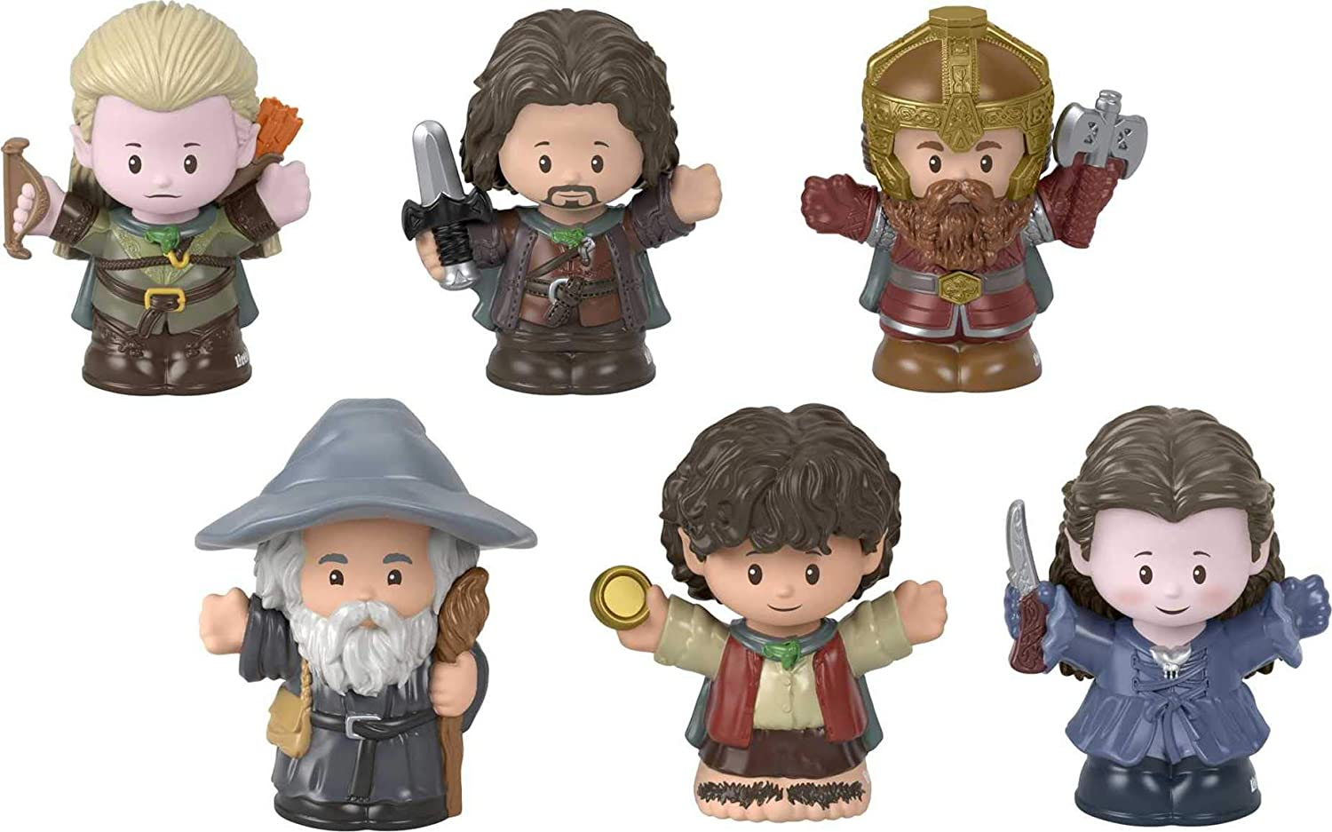 Fisher-Price Little People Collector Lord of The Rings Figure Set, 6 Character Figures from The Film in giftable Package for Tolkien Fans Ages 1-101 Years