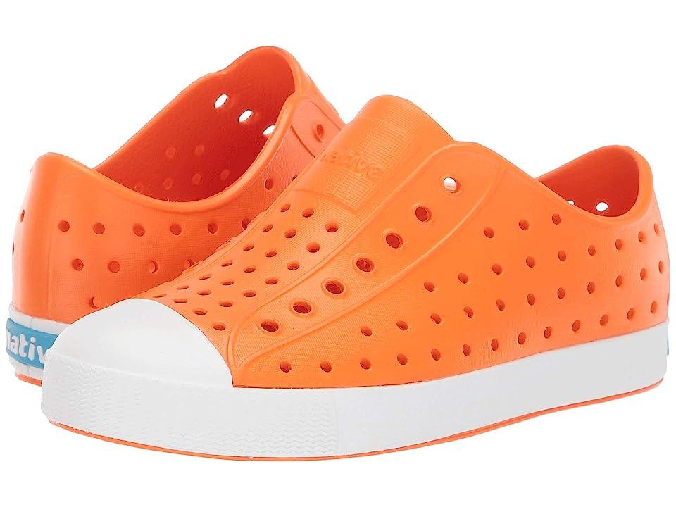 Native Kids Shoes Jefferson (Little Kid/Big Kid) (City Orange/Shell White) Kid